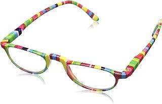 Rainbow Stripes Oval Reading Glasses