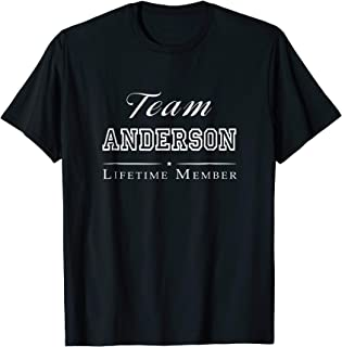 Team Anderson Lifetime Member Personalized Surname T-shirt