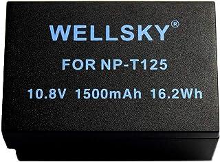 WELLSKY NP-T125 1500mAh 互換バッテリー [ 純正充電器で充電可能 残量表示可能 純正品と同じよう使用可能 ] FUJIFILM 富士フィルム GFX 50S / GFX 50R / GFX 100 / BC-T125
