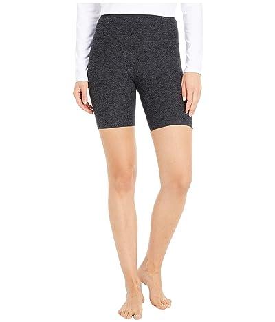 Beyond Yoga Spacedye High Waisted Biker Shorts (Black/Charcoal) Women