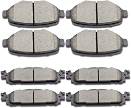 SCITOO Brake Pads Kits, Front Rear Disc Brakes Pads Set fit 2011-2016 Ford Explorer,2009-2014 Ford Flex,2010-2012 Ford Taurus,2009-2012 Lincoln MKS,2010-2014 Lincoln MKT
