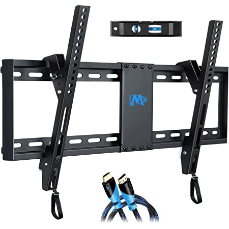 "Mounting Dream UL Listed TV Mount for Most 37-70 Inches TVs, Universal Tilt TV Wall Mount Fits 16"", 18"", 24"" Studs with Loading 132 lbs & Max VESA 600x400mm, Low Profile Wall Mount Bracket MD2268-LK"