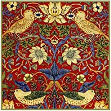 Orenco Originals William Morris Red Strawberry Thief Design Counted Cross Stitch Pattern