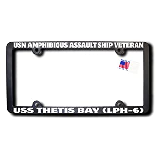 USN Amphibious Assault Ship Veteran USS THETIS BAY (LPH-6) License Frame