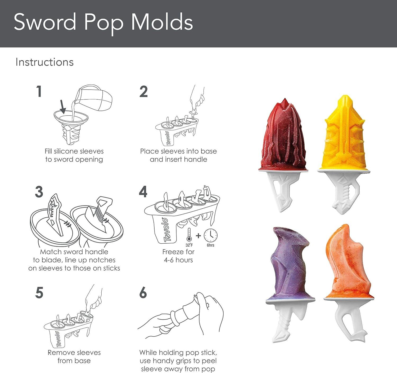 Set of 4 Tovolo Robot Pop Molds
