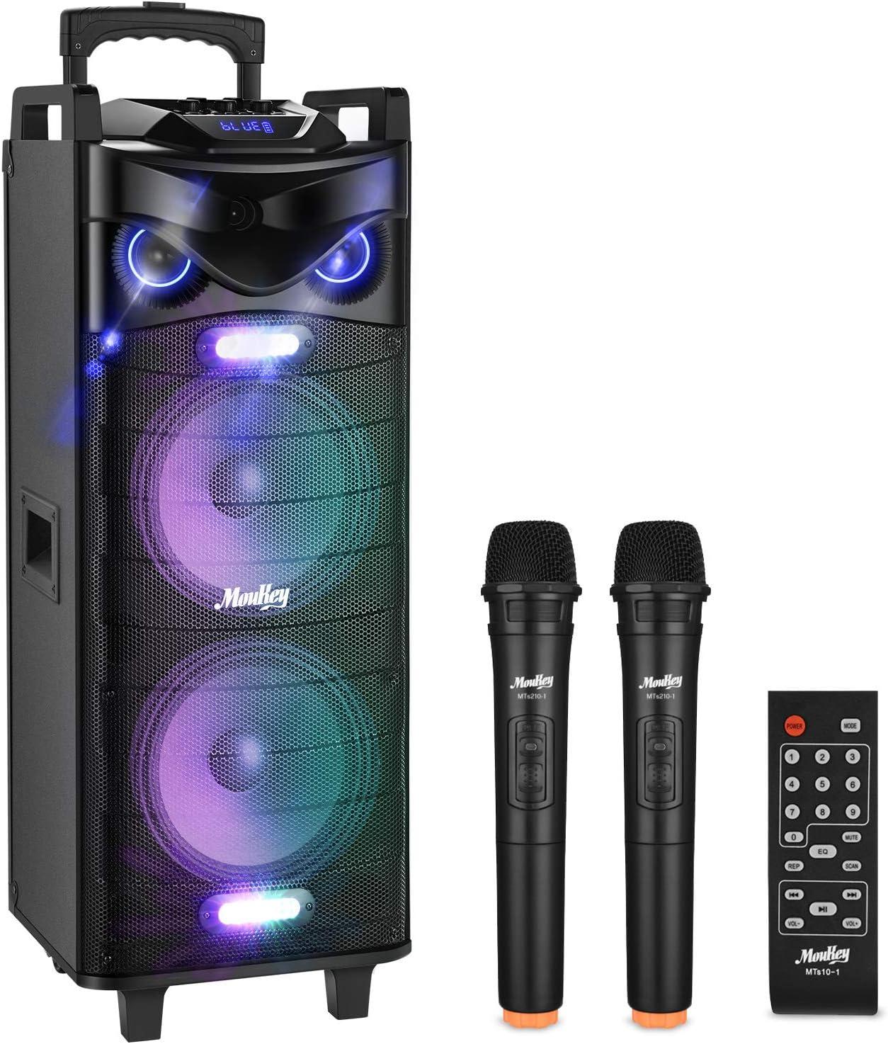 Moukey Karaoke Machine Speaker PA 280W Outlet SALE Kara System RMS Bluetooth trend rank