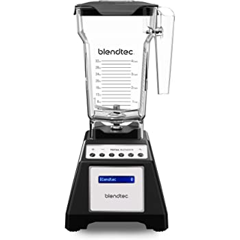 Blendtec Total Classic Countertop Blender, 75 oz, FourSide Jar Black