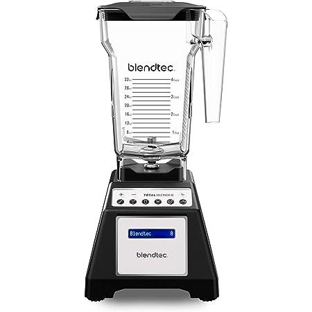 Blendtec Total Classic Original Blender - Fourside Jar (75 oz), Professional-Grade Power-6 Pre-Programmed Cycles-10-Speeds, Black