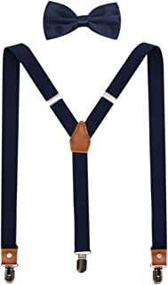 Suspenders And Pre-Tied Bowtie Set For Boys And Men By JAIFEI, Casual And Formal