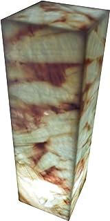 "Lampada rettangolare 50cmx15cm in marmo di onice ""Azulita"""