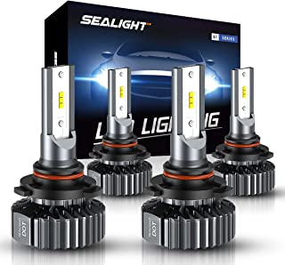 9006 9005 LED Headlight Bulbs Hi Lo Beam,Combo Package Seoul CSP Led Chips-12000LM 6000K Xenon White