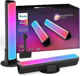 Govee Smart Barre LED Flow Pro, Rétroéclairage WiFi RGBIC avec Caméra, Synchronisation de la Lampe de Jeu avec Musique, Fo...