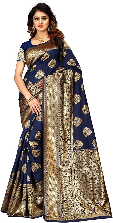 Zabia Fashion Indian Women's Banarasi Silk Rich Pallu Saree I Wedding Traditional Designer Party Wear Saree PARI 32