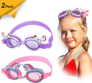 Kids Swim Goggles (2 Pack)|| Swimming Goggles for...