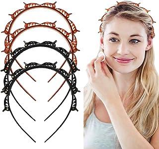 CNXUS Frisyrhjälpmedel hårband med klämmor, hårnålar frisörtillbehör, pannband hårhållare hårsmycken hårband med klämmor, ...