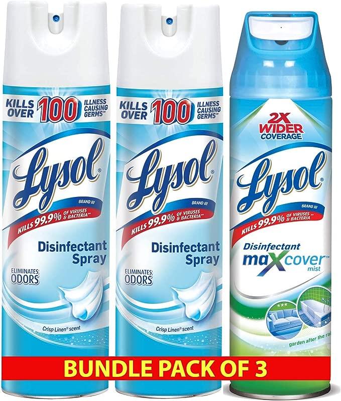 Lysol Disinfectant Spray 3ct Garden After Rain 1x15 Oz Crisp Linen Scent