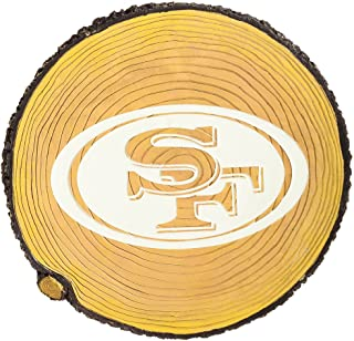 Team Sports America NFL San Francisco 49ers Glow in The Dark Stepping Stone Stump, Small, Multicolored