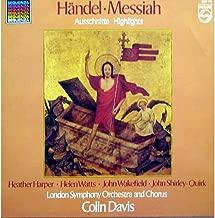 Colin Davis / London Symphony: Handel Messiah Highlights LP VG++/NM Canada