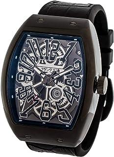 [フランク三浦] 十一号機 頑張るどモデル スケルトンウォッチ 腕時計 (スケルトンフルブラック)
