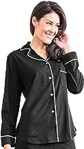 Women's Donna Long Sleeve Night Sweat Relief Pajama Top Sleepwear Moisture Control Shirt