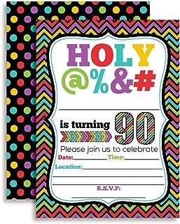 HOLY @% 90th Birthday Party Invitations, 20 Funny 5