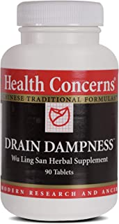 Health Concerns - Drain Dampness - Hoelen Five Chinese Herbal Supplement - Wu Ling San - Overall Wellness Support - with Alisma Rhizome - 90 Tablets per Bottle