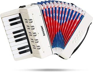 Souidmy Kids Accordion, 17 Keys 8 Bass piano Accordion, Toy Accordian, Mini Musical..