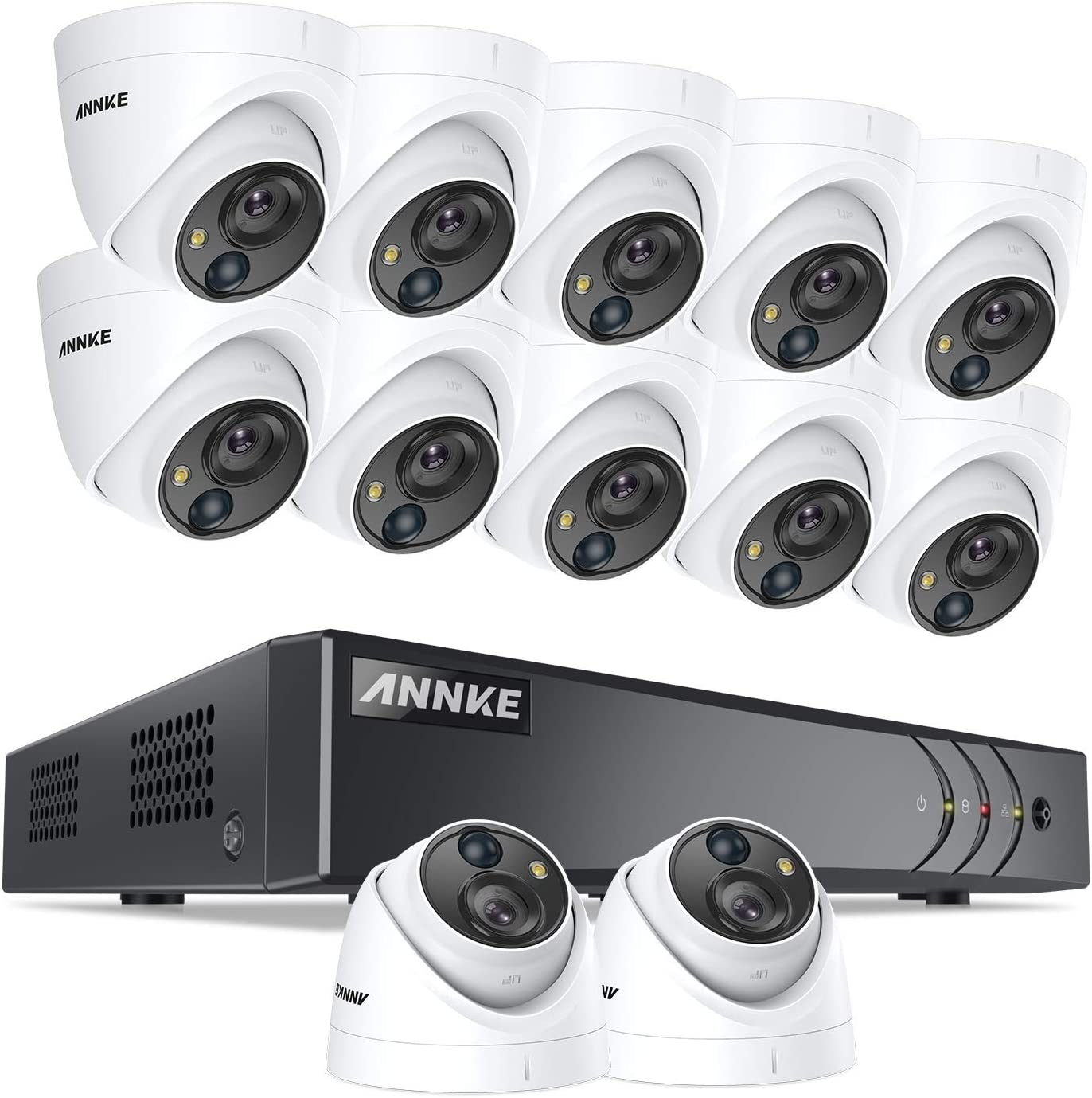 ANNKE 16 Channel Virginia Beach Mall 5MP Security Camera with Excellence No DVR Systems H.265+