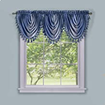 Achim Home Furnishings Ombre Waterfall Valance, 50 by 63