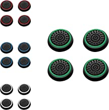 Insten [8 Pair / 16 Pcs] Wireless Controllers Silicone Analog Thumb Grip Stick Cover, Game Remote Joystick Cap for PS4 Dua...
