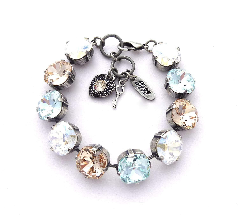 Swarovski Crystal Max 68% OFF Bracelet Light Azore Silk Moo Cash special price
