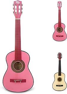 CB SKY گیتار کلاسیک صورتی 30 اینچ / هدیه دخترانه / اسباب بازی های موزیکال کودکانه / ساز موسیقی