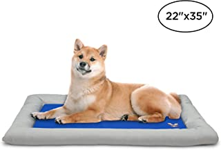 Arf Pets Dog Self Cooling Bed Pet Bed � Solid Gel Based Self Cooling Mat for Pets, Includes a Foam Based Bolster Bed for Extra Comfort