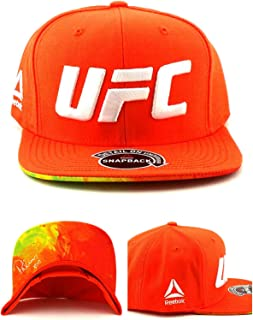 Reebok UFC New MMA Brittney Palmer Orange White XOXO Fighters Era Snapback Hat Cap