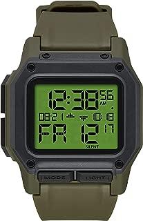 Regulus Men's Water and Shock Resistant Digital Watch. (46mm. Locking Looper Band)