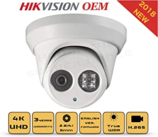 4K PoE Security IP Camera - Compatible with Hikvision DS-2CD2385FWD-I UltraHD 8MP Turret Onvif IR Night Vision Weatherproof 4mm Lens Best for Home and Business Security, 3 Year Warranty