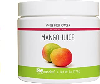 Nubeleaf Mango Juice Powder - Non-GMO, Gluten-Free, Raw, Vegan Source of Fiber & Vitamins A, C, B6 - Nutrient Rich Superfood for Cooking, Baking, Smoothies (6oz)