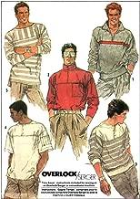 Simplicity vintage 1980s sewing pattern 8410 Men's mod sweatshirts - Size L