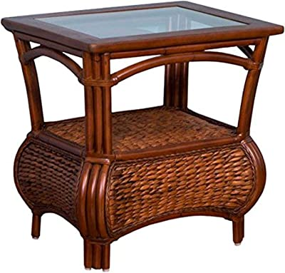 Christopher Knight Home 295250 Noah Brown Mahogany Acacia Wood Accent Table w//Bottom Drawer