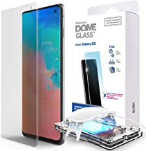 Galaxy S10 Screen Protector, [Dome Glass] Full 3D Curved Edge Tempered Glass [Exclusive Solution for Ultrasonic Fingerprint] Easy Install Kit by Whitestone for Samsung Galaxy S10 (2019) - 1 Pack