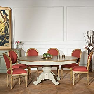 Robin des bois - Table Extensible, 8 à 10 Couverts, Patine Shabby Grise, AMBOISE