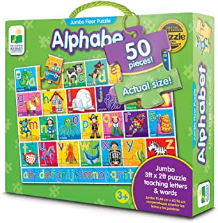 The Learning Journey 436318 Jumbo Alphabet Floor Puzzles, Multi