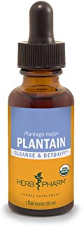 Herb Pharm Certified Organic Plantain Liquid Extract for Cleansing and Detoxification - 1 Ounce (DPLAN01)
