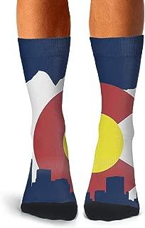 Mens Compression Socks Soccer Socks Ecuadorian Flag Crew Socks for Running
