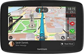 TomTom GO 620 6-Inch GPS Navigation Device with Free Lifetime Traffic & World Maps, WiFi-Connectivity, Smartphone Messaging, Voice Control and Hands-Free Calling (Renewed)
