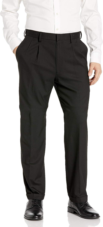 J.M. Haggar Men's Premium Stretch Classic Fit Pleat Front Pant