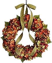 heave Grinalda de hortênsia artificial feita à mão, enfeites de flores para primavera e verão, enfeites de flores para por...
