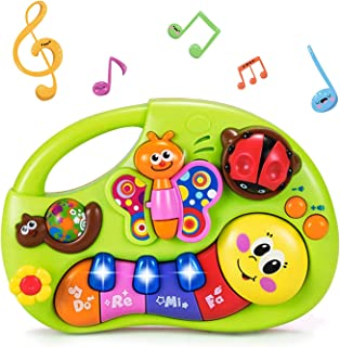 HOLA Musical Baby Toys 6 to 12 Months, Baby Piano Keyboard Light Up Bugs Toy, Learning Education Toys for 6-12 Months, 6 9...