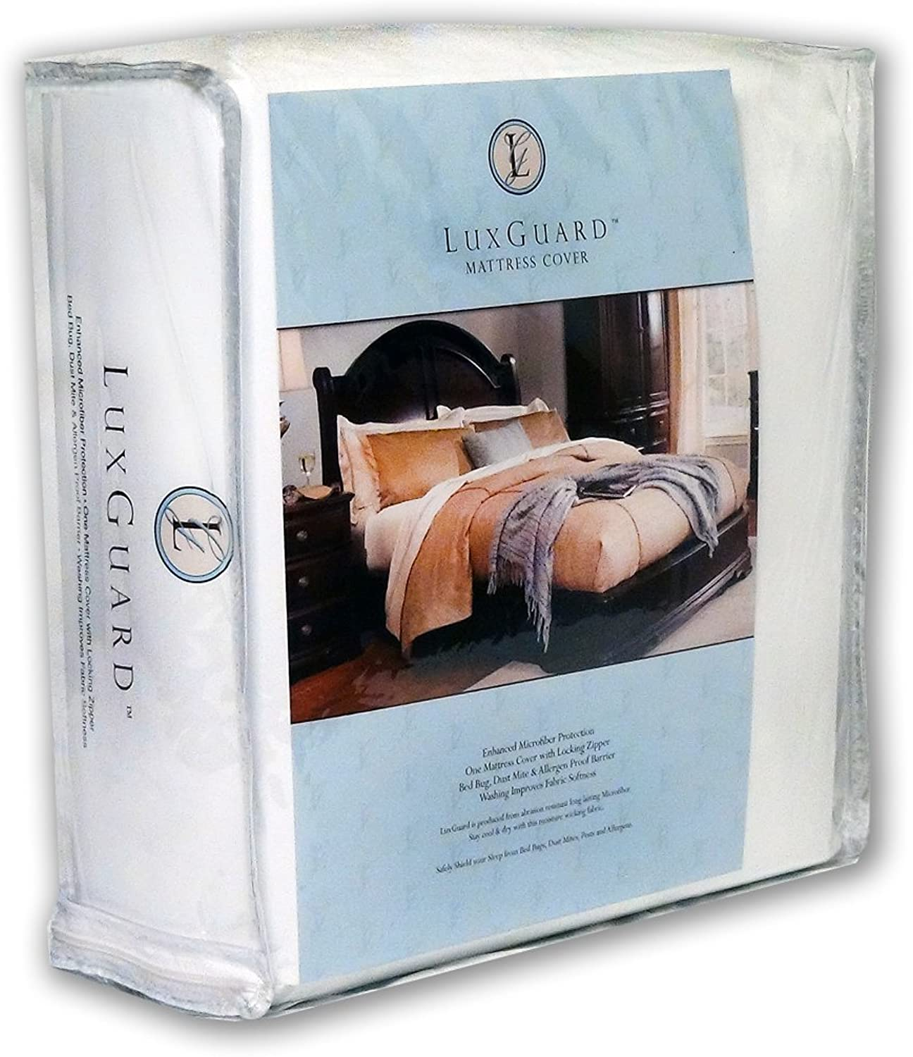"LuxGuard, Elegant, Woven, Allergen, Bed Bug and Dust Mite Mattress Predection ZipCover, Size  78"" x 84"" x 12"" -Cal King 12"