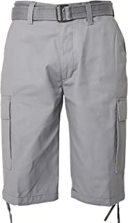 Regal Wear Mens Solid Cargo Shorts with Belt